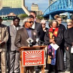 Speaking at the Interfaith Leaders Press Conference for the inclusion of protections for LGBT people in Jacksonville's Human Rights Ordinance