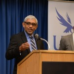 Accepting the Desmond Tutu Peace Award from UNF