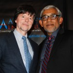 With famed documentary director Ken Burns at Awards Dinner for Atlantic Institute of Jacksonville