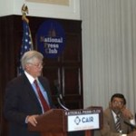 "Presenting at the ""Attacking Islam"" panel with David Keene, Chairman of American Conservative Union"