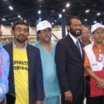 With U.S. Rep. Al Green (D-TX) during my visit to Houston for Katrina Relief