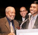 Honoring Imam WD Mohammed with a special recognition award